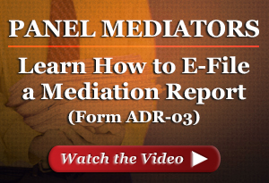 Learn how to electronically file a mediation report