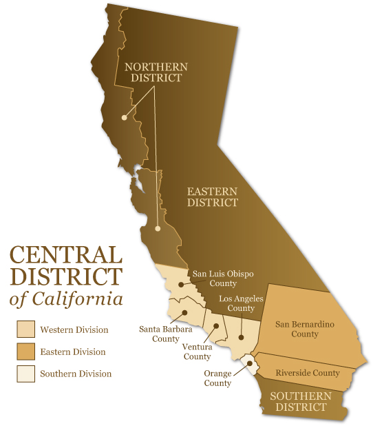 Image result for california us district court map